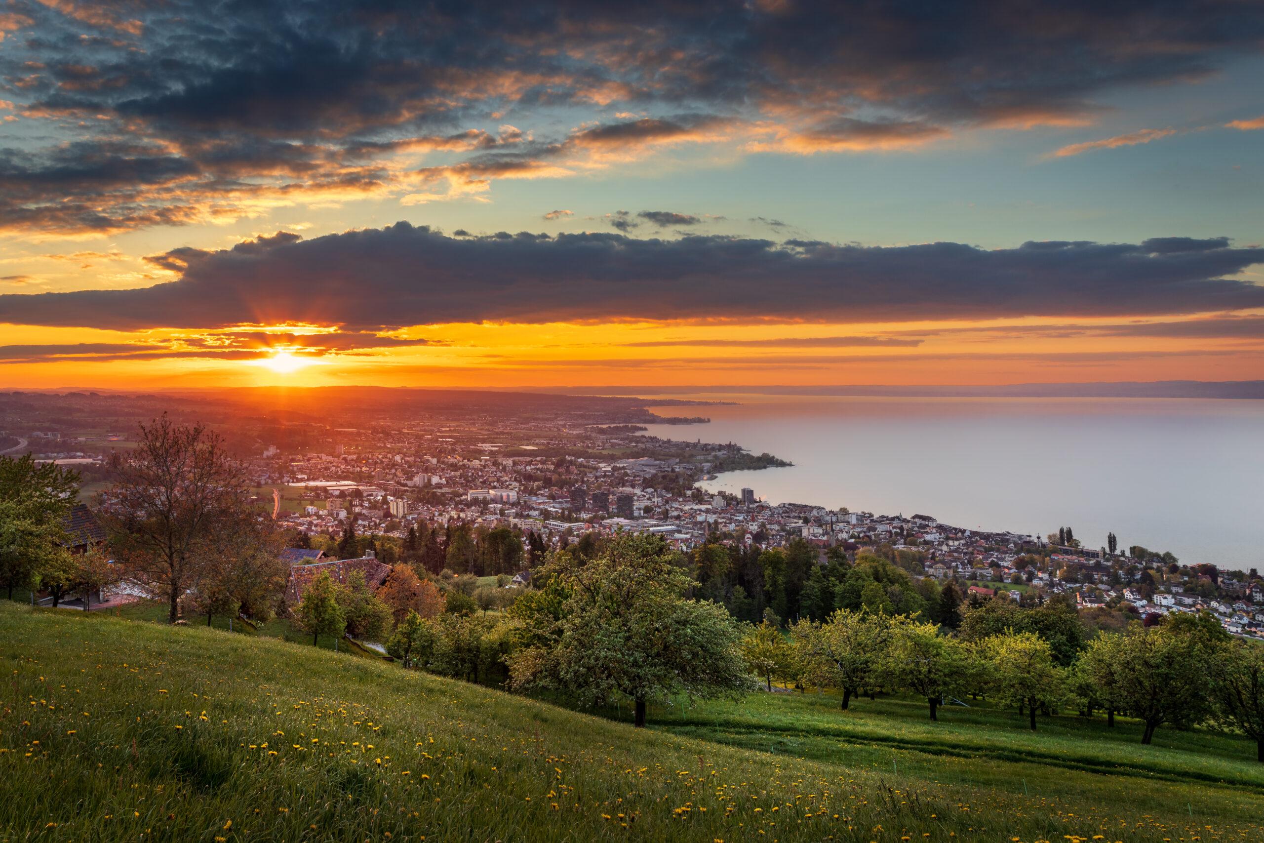 20190513-Sonnenuntergang-über-Rorschach-Pano